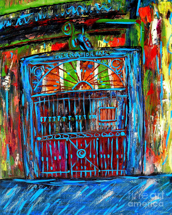 Preservation Hall Painting - Preservation Hall by JoAnn Wheeler