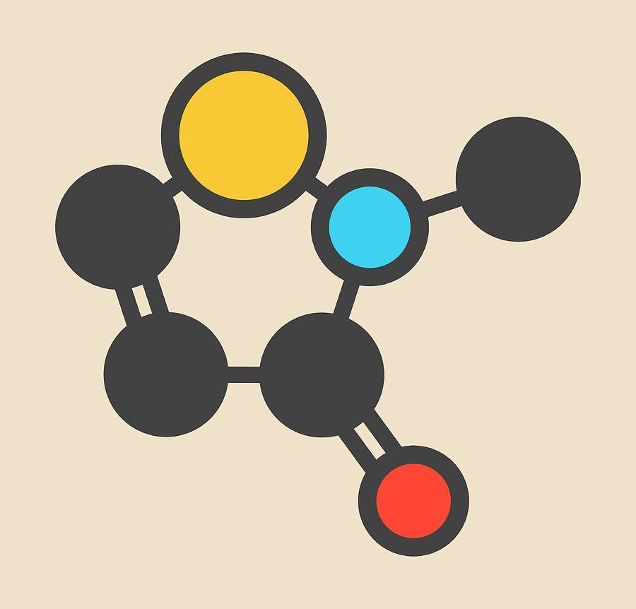 Methylisothiazolinone Photograph - Preservative Molecule by Molekuul