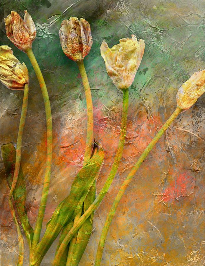 Flower Flowers Digital Art - Preserved Memory by Gun Legler