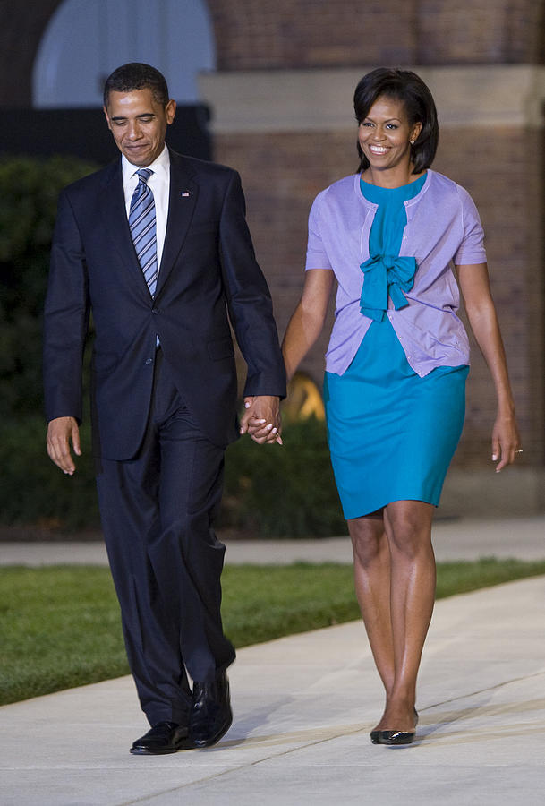 Marine Parade Photograph - President And First Lady by JP Tripp