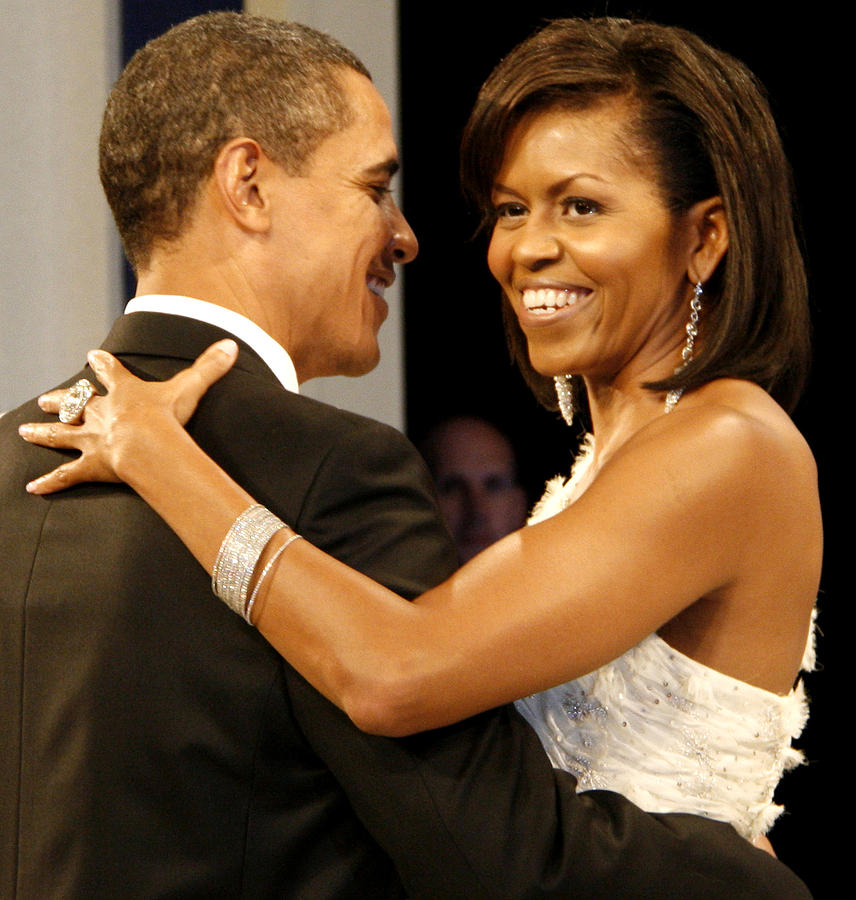 Photograph Digital Art - President And Michelle Obama by Official Government Photograph