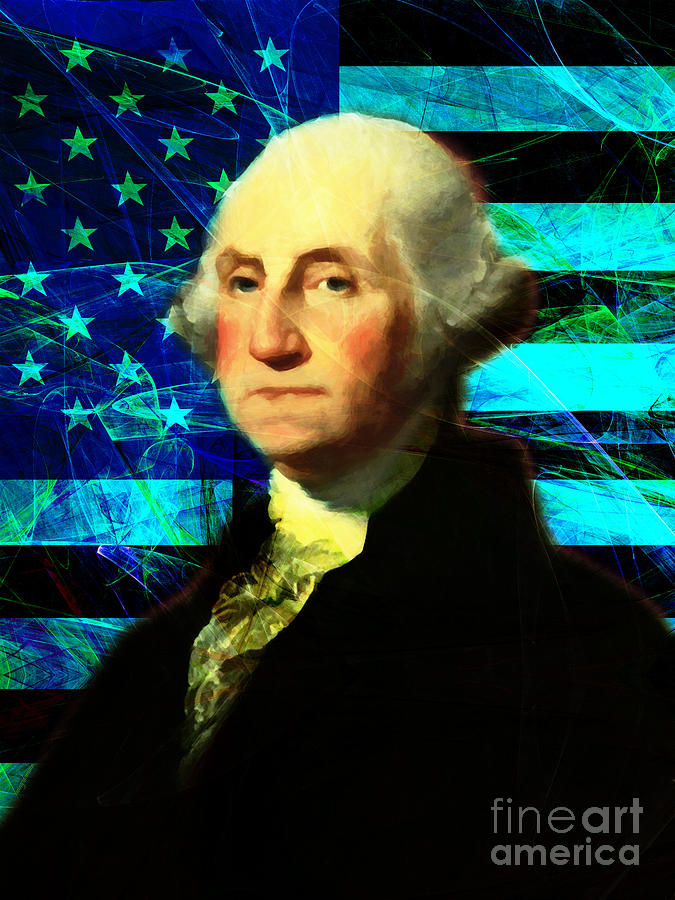 Celebrity Photograph - President George Washington V2 P138 by Wingsdomain Art and Photography