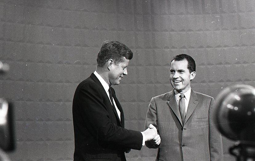 President John Kennedy and President Richard Nixon in the 1960 Debate by Retro Images Archive