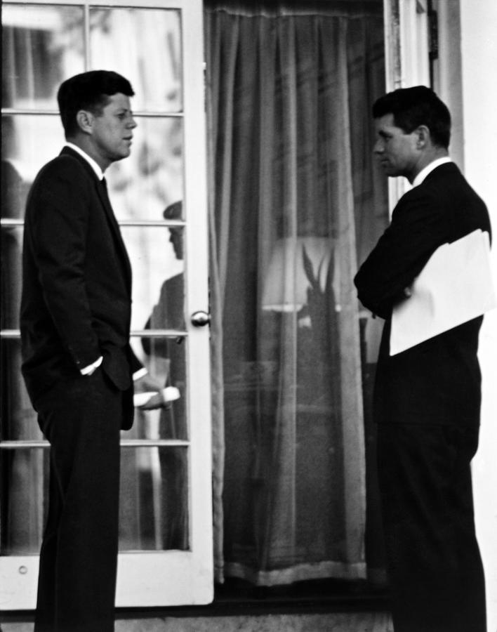 Jfk Photograph - President John Kennedy And Robert Kennedy by War Is Hell Store