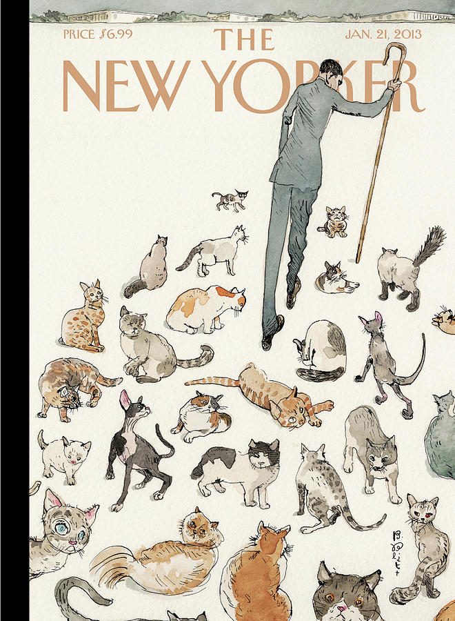 President Obama Attempts To Herd Cats Painting by Barry Blitt