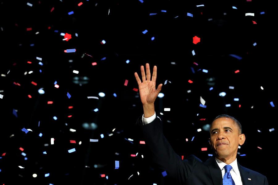 President Obama Holds Election Night Photograph by Chip Somodevilla