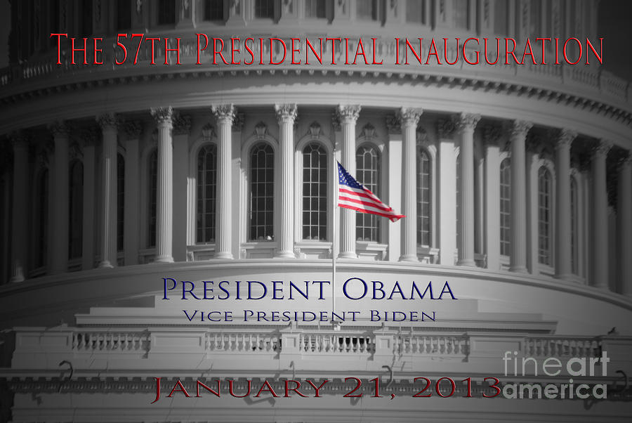 Barack Photograph - President Obama Inauguration by Jost Houk