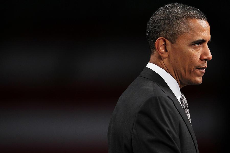 President Obama Speaks On The Economy Photograph by Spencer Platt