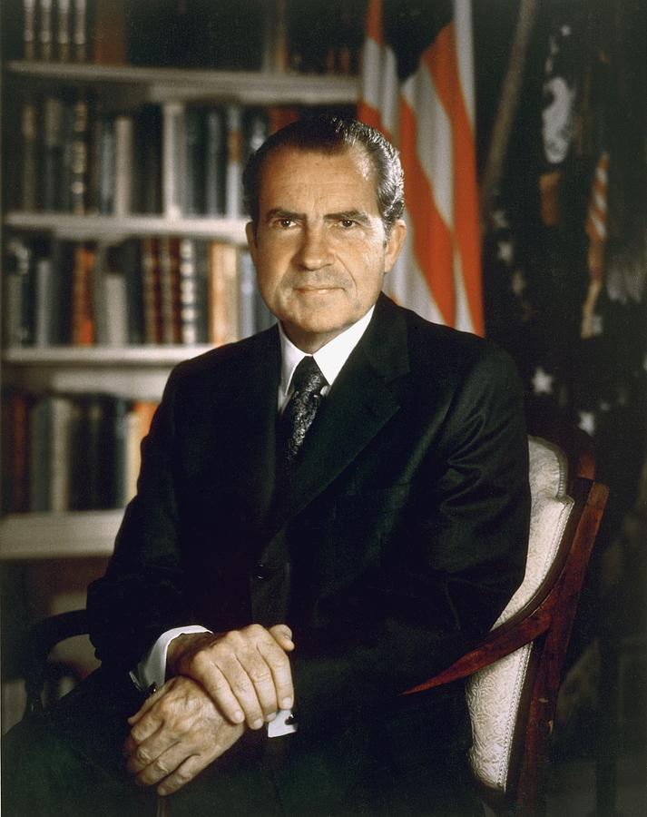 History Photograph - President Richard Nixon In An Official by Everett