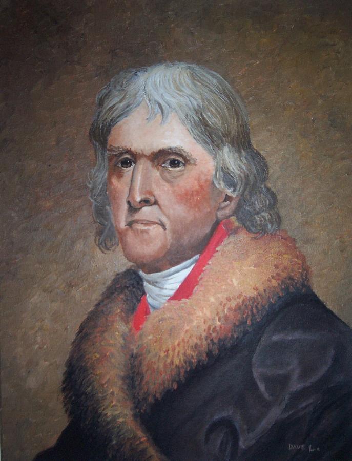 President Painting - President Thomas Jefferson by Dave LeBlanc