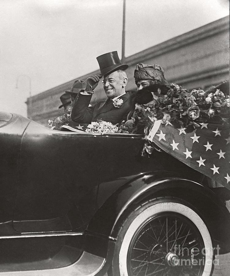 Woodrow Wilson Photograph - President Woodrow Wilson 1919 by Martin Konopacki Restoration