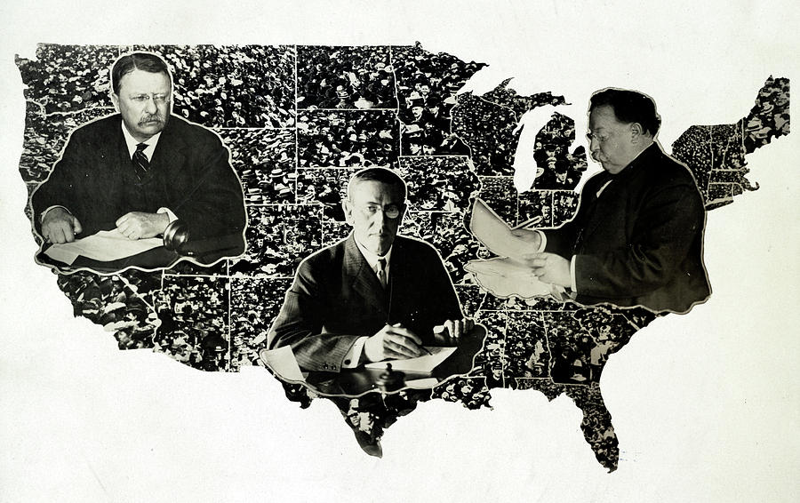 1912 Photograph - Presidential Map, C1912 by Granger
