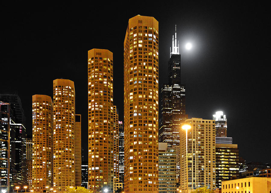 Chicago Photograph - Presidential Towers Chicago by Christine Till