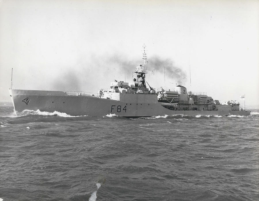 Retro Photograph - Press Visit To H. M. S. Exmouth The Royal Navy's First by Retro Images Archive