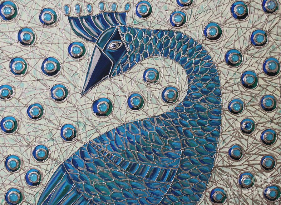 Peacock Painting - Pretty As A Peacock  by Cynthia Snyder