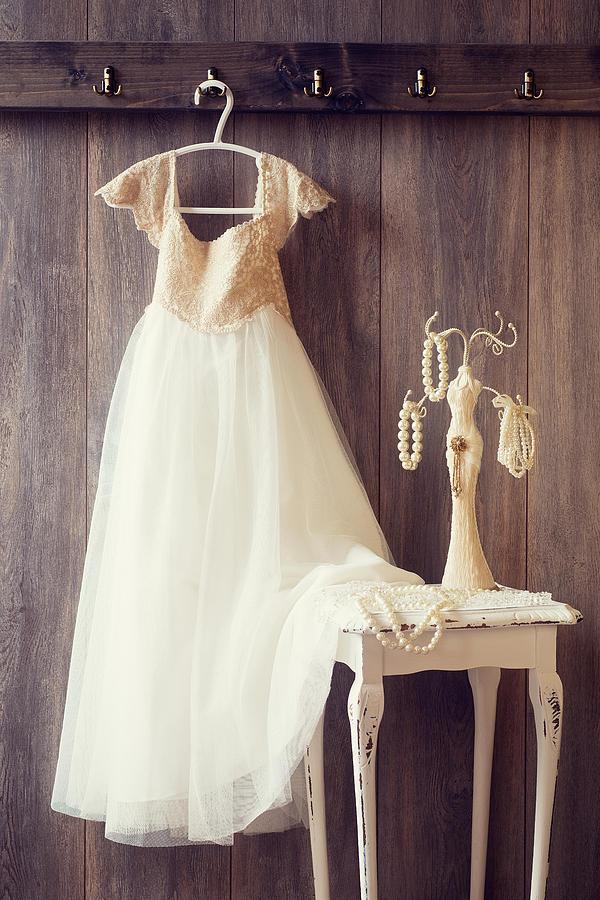 Girl Photograph - Pretty Dress by Amanda Elwell