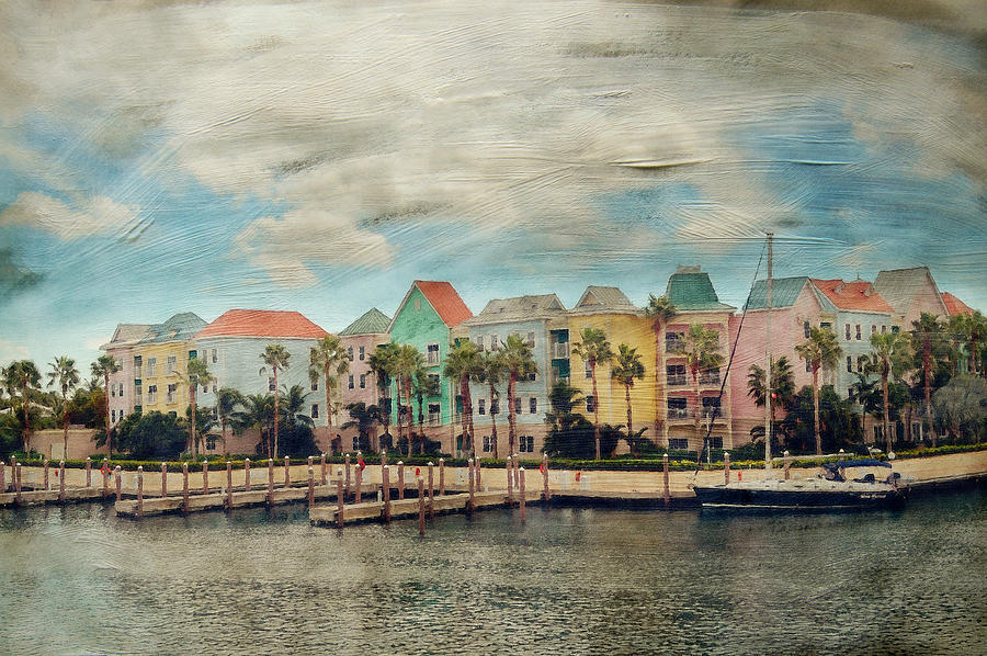 Nassau Photograph - Pretty Houses All In A Row Nassau by Kathy Jennings