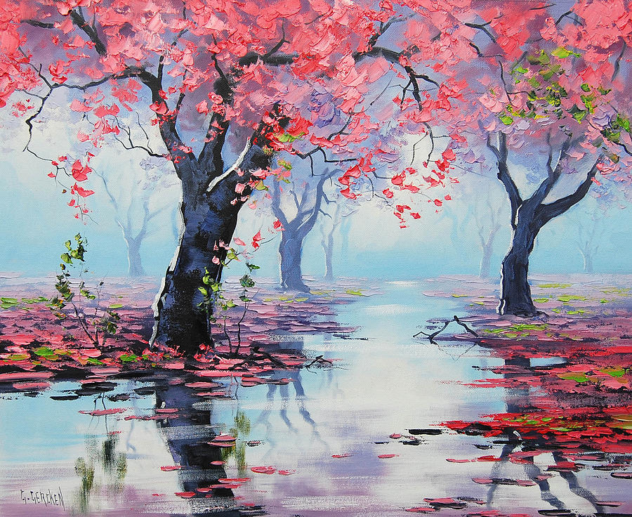 Pretty In Pink Painting By Graham Gercken