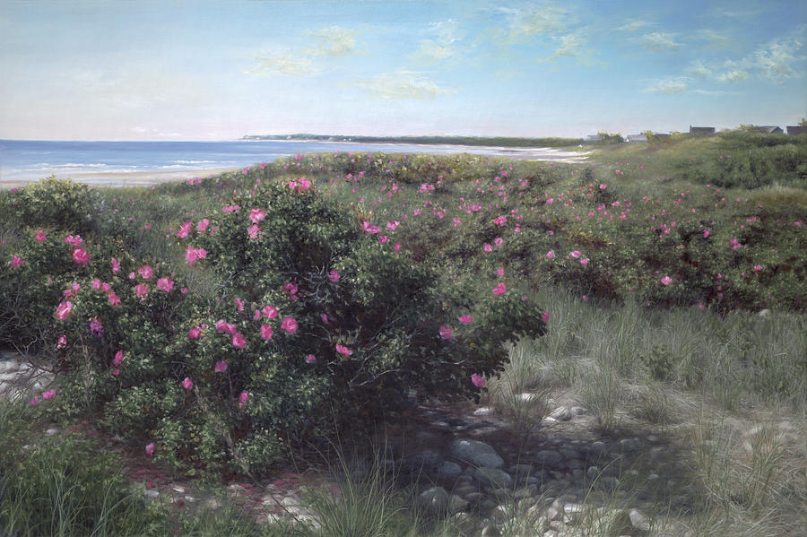 Cape Cod Beach Painting - Pretty In Pink by Julia OMalley-Keyes
