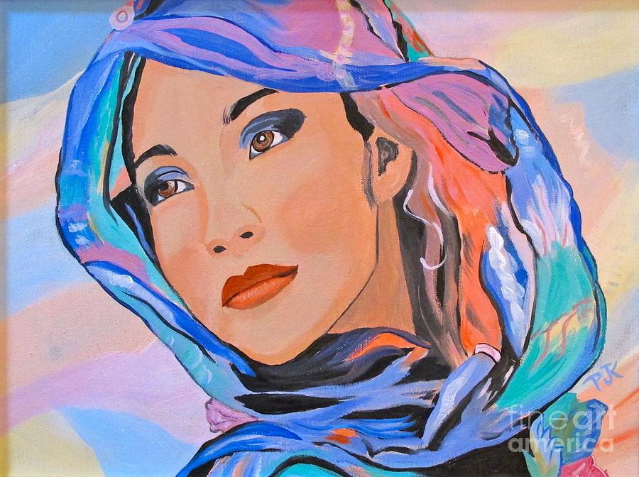 Beautiful Lady Painting - Pretty Lady by Phyllis Kaltenbach