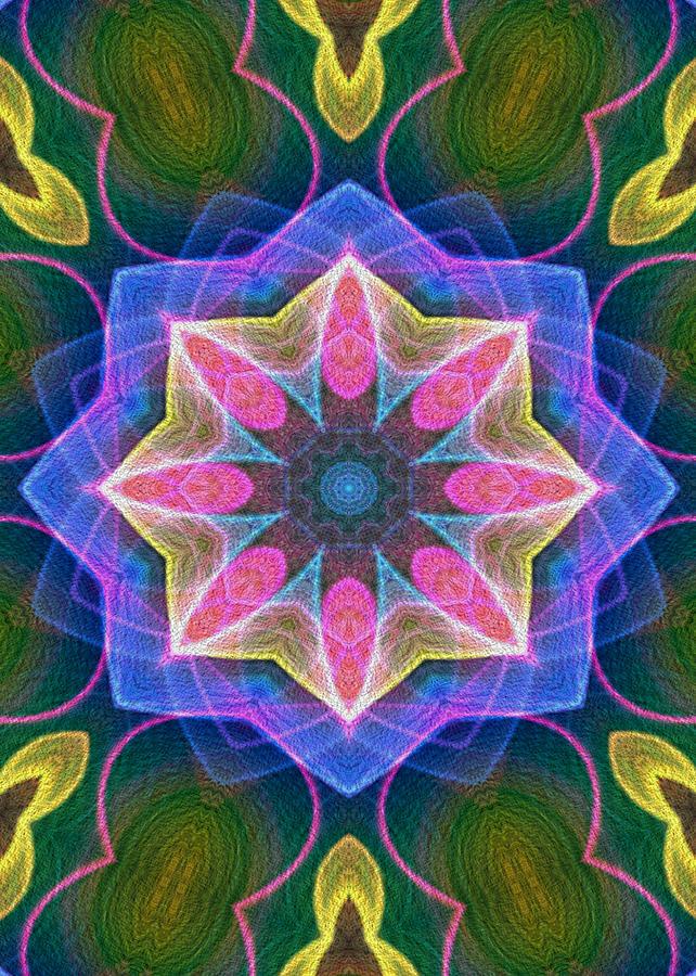 Flame Fractal Digital Art - Pretty by Owlspook