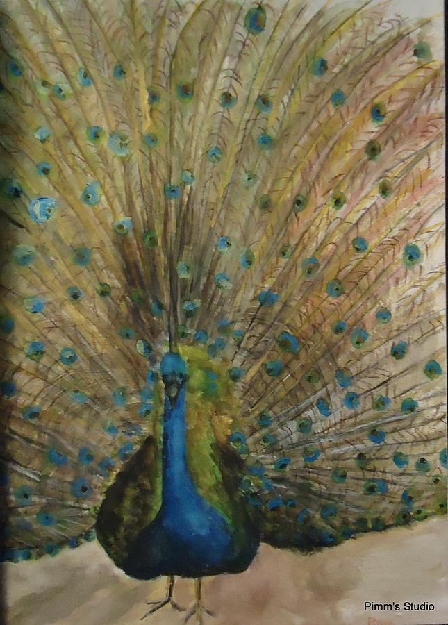 Peacock Painting - Pretty Plumage by Betty Pimm