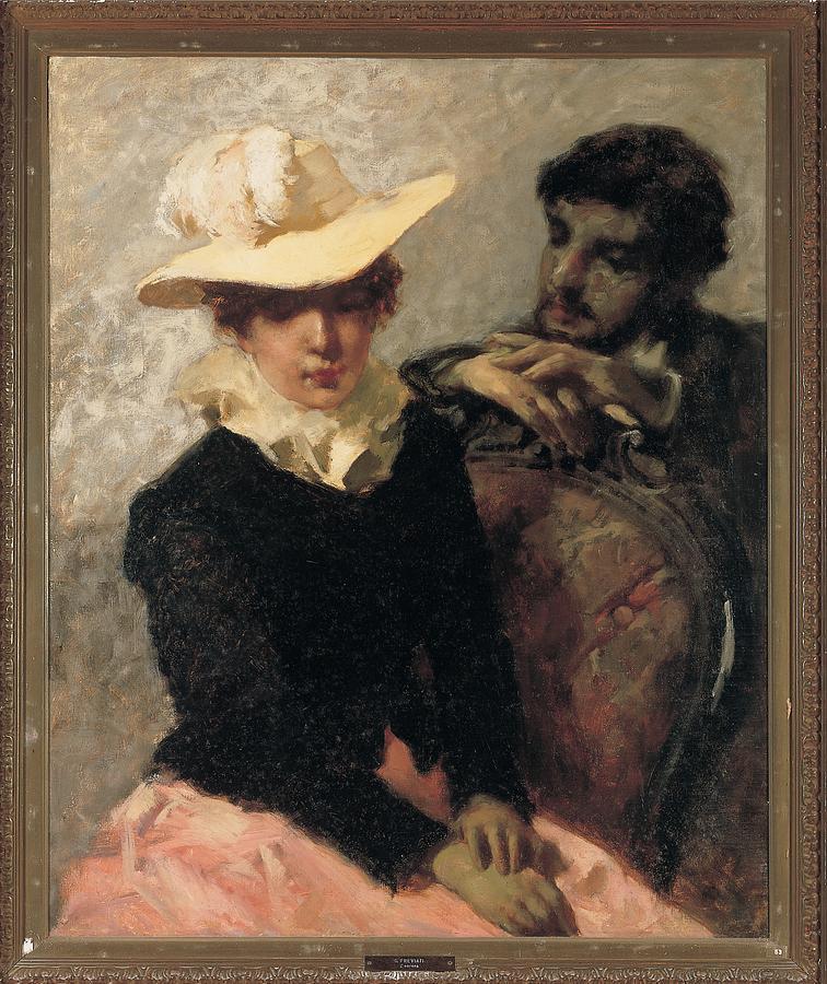 Portrait Photograph - Previati Gaetano, Aurora The Painter by Everett
