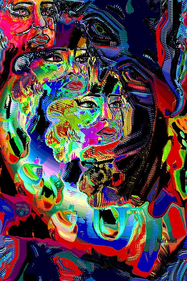 Abstract Mixed Media - Prey by Natalie Holland