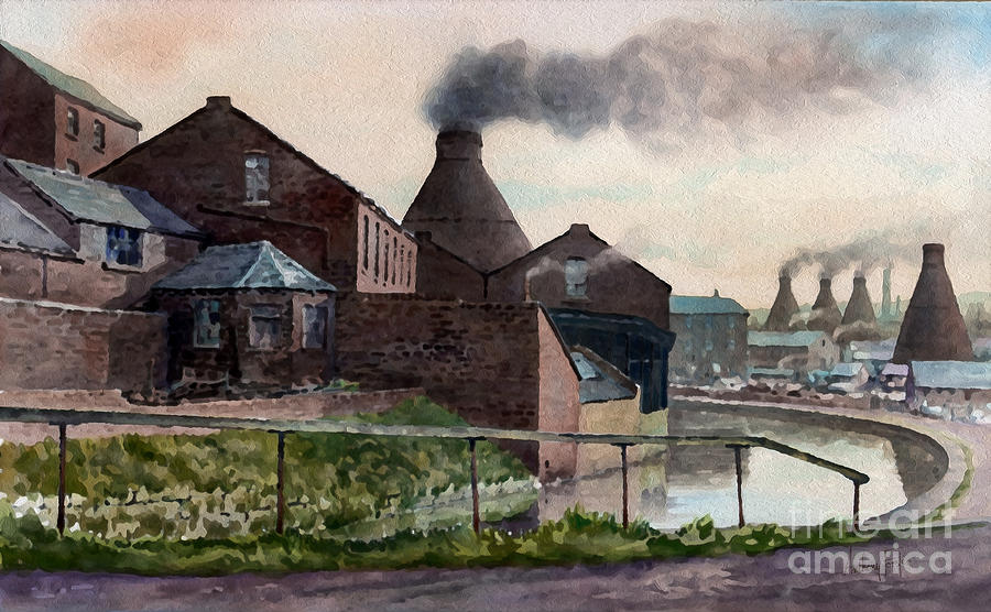 Bottle Kilns Painting - Price Kensington by Anthony Forster