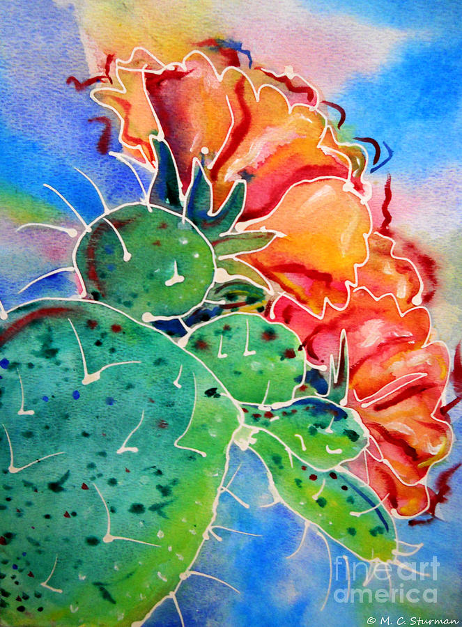 Cactus Painting - Prickly Pear by M c Sturman
