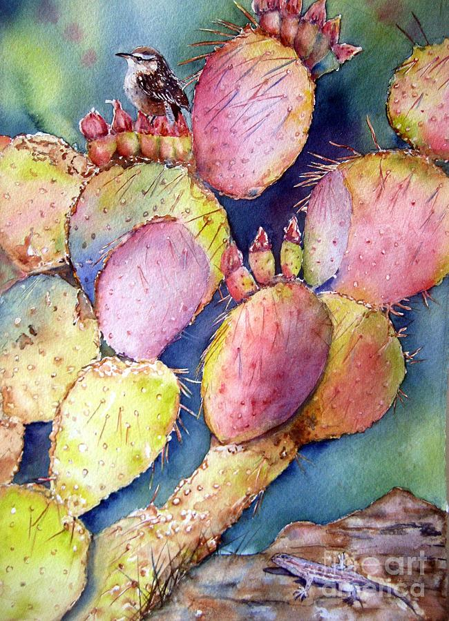 Desert Painting - Prickly Perch by Patricia Pushaw