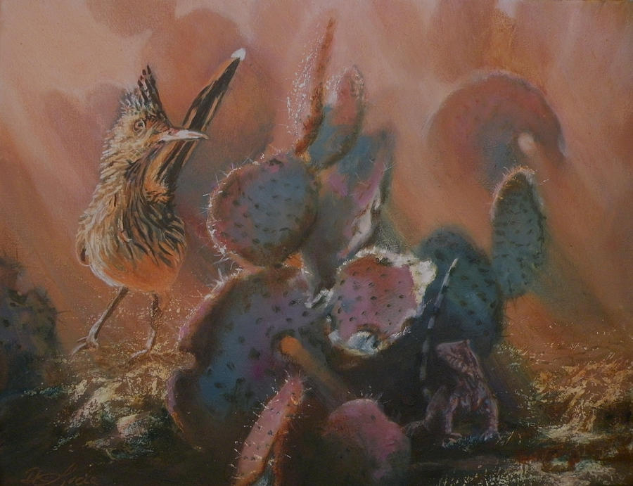 Southwestern Painting - Prickly Situation by Mia DeLode