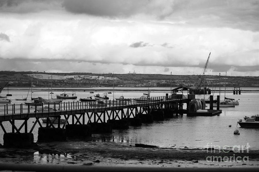 Priddy's Hard Photograph - Priddys Hard Jetty by Terri Waters
