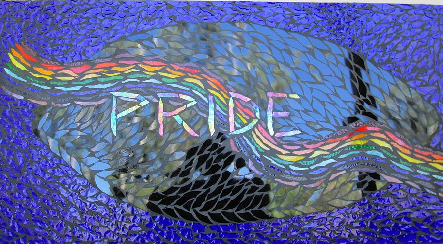 Rainbow Glass Art - Pride by Alison Edwards