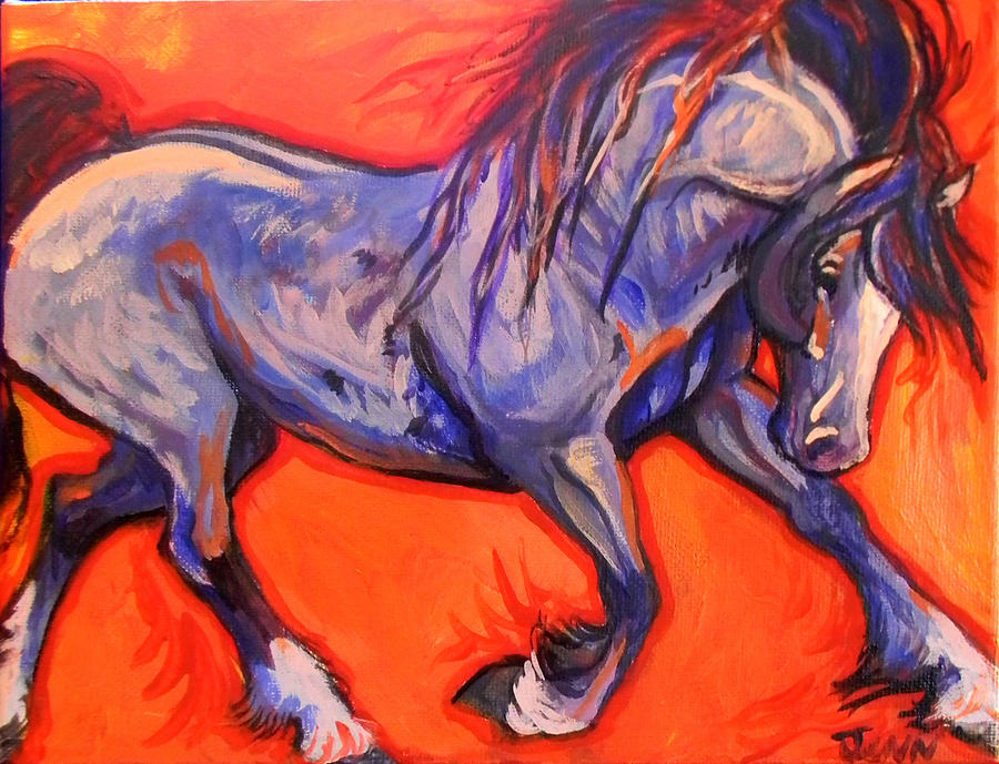 Horse Painting - Pride by Jenn Cunningham