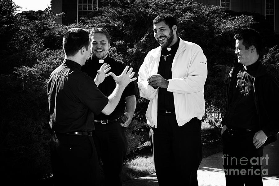 Priest Camaraderie Photograph