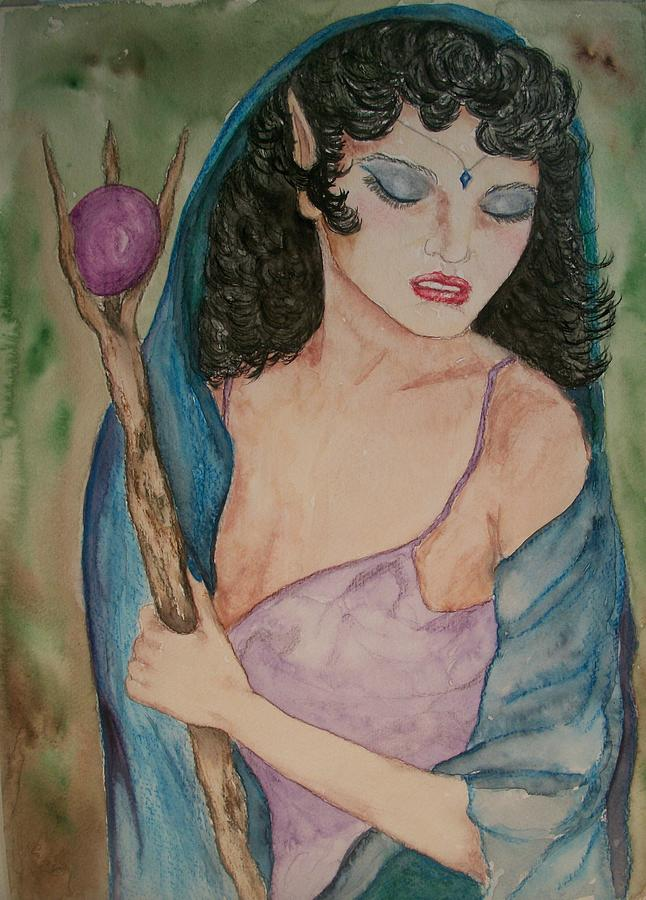 Pagan Painting - Priestess by Carrie Viscome Skinner
