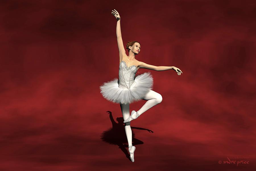 Prima Ballerina Digital Art - Prima Ballerina Kiko Pirouettes Pose by Andre Price