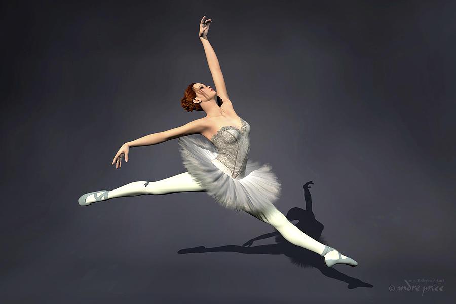 prima ballerina nanashi grand jete pose digital art by. Black Bedroom Furniture Sets. Home Design Ideas