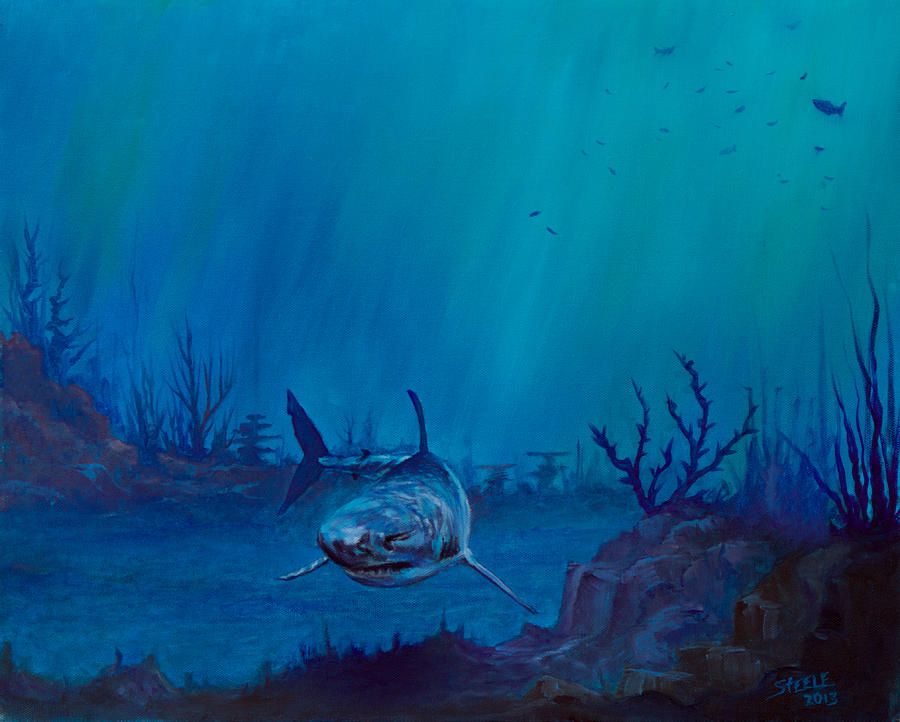 Ocean Painting - Primal Beauty by C Steele