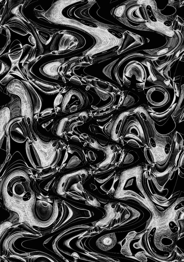 Abstract Drawing - Primal Flux by Helena Tiainen