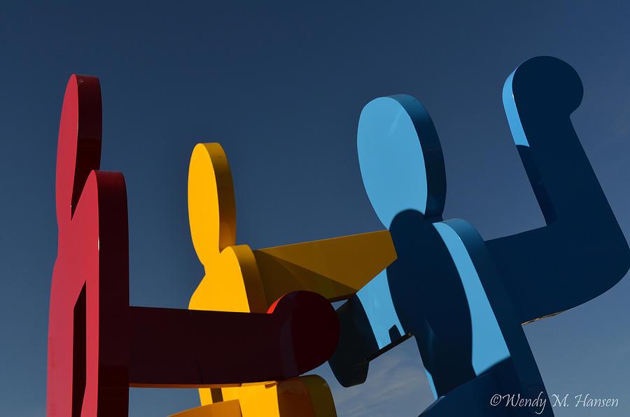 Sculpture Photograph - Primary Colors by Wendy Hansen-Penman