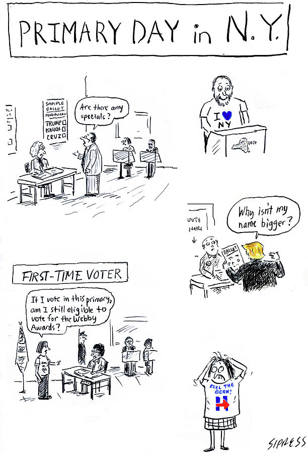 Primary Day In New York Drawing by David Sipress