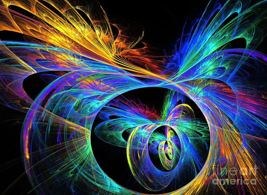 Apophysis Digital Art - Primary by Kim Sy Ok
