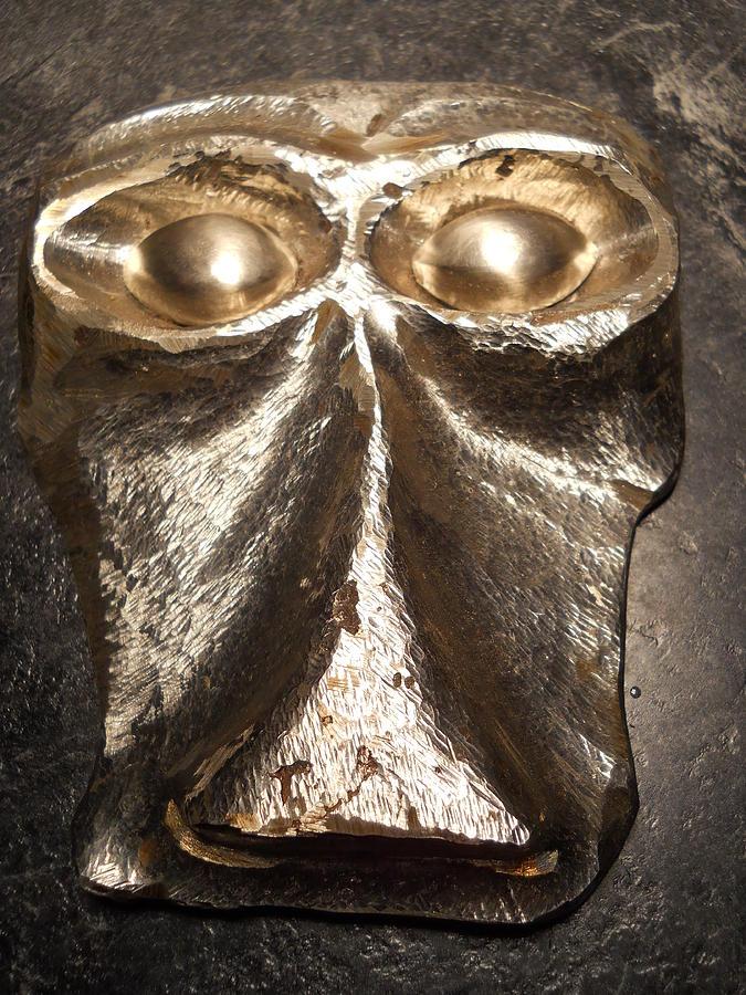 Monkey Face Sculpture - Primate by Carl LeGrand