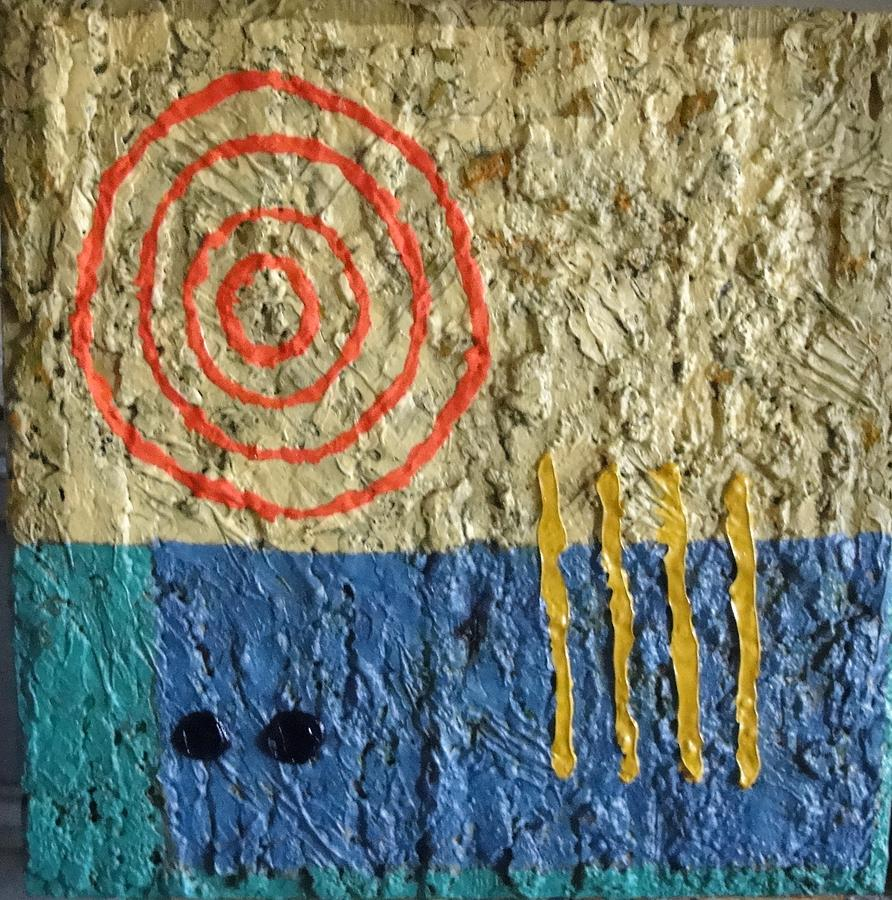 Abstract Painting - Primitive Astronomy by Bernard Goodman