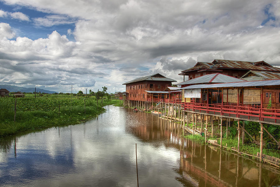Primitive Textile Factory On Inle Lake Photograph by Kateryna Negoda