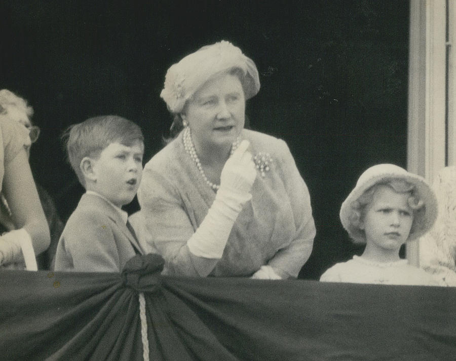 Retro Photograph - Prince Charles And Princess Anne Look For Their Lither To by Retro Images Archive