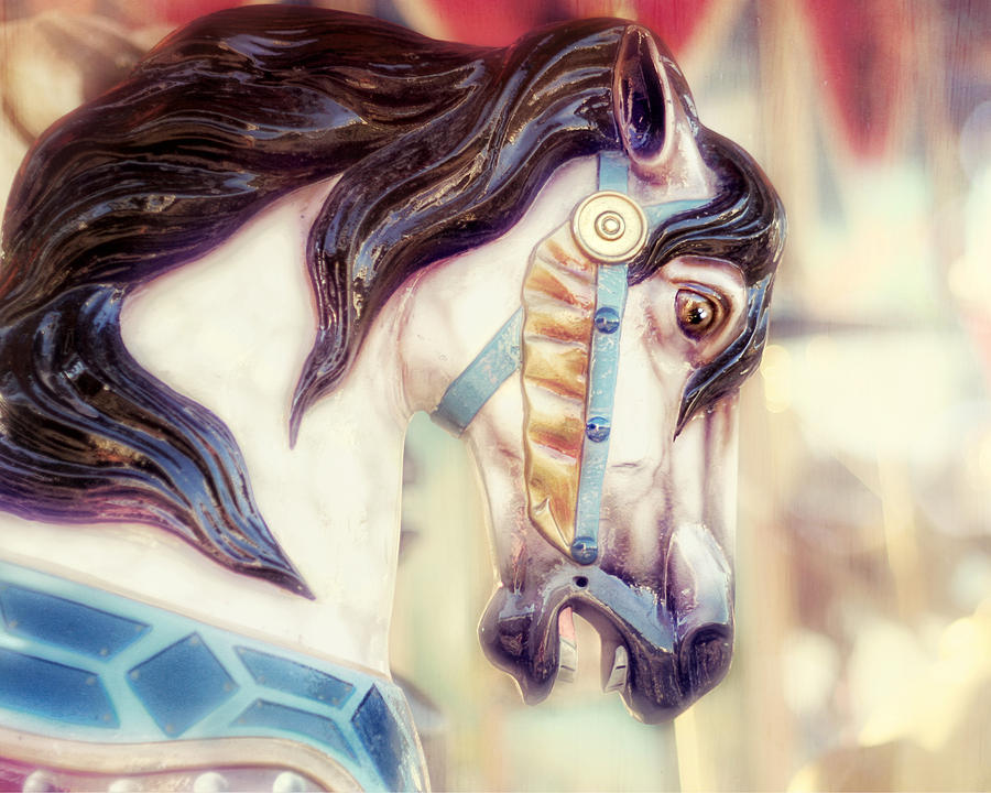 Merry Go Round Horse Photograph - Prince Charming by Amy Tyler