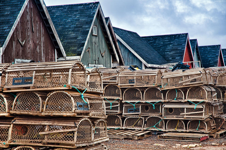 Prince Edward Islands Lobster Traps Photograph
